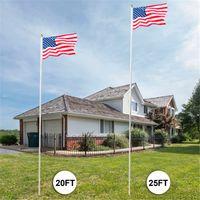 US EUA Bandeira Flagpole Kit Solene Solene Outdoor Decoração Seção de Halyard Pólo América Alumínio Durável Gold Ball Finial