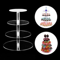 Other Bakeware 3 4 5 Tier Acrylic Wedding Cake Stand Crystal Cup Display Shelf Cupcake Holder Plate Birthday Party Decoration Stands