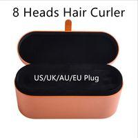 8 huvuden högsta kvalitet multifunktion hår curler professionell salong torktumlare verktyg EU / US / uk / au version curling järn för normala hår med presentförpackning