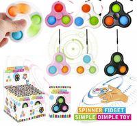 Baby montessori apprendre tôt fidget spinners popit jouet développement intellectuel exercice jouties kid plastie simple sensorielle