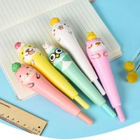 Gel Pens Creative Kawaii Animals Pen Cap Squishy Slow Rising Pencil Holder Soft Squeeze Toy Stress Relief Xmas Kids Gift Writing Supplies