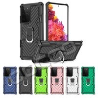Hybrid Armor Ring Holder Phone Cases Shockprook Cover For iPhone 12 Pro Max 11 XS XR Samsung Note 20 Ultra S20 S21 Plus A32 A21S Moto G Power LG Stylo 6 7 5G