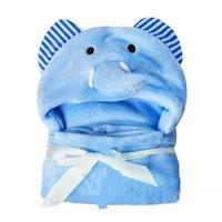 Serviette de bain à capuche pour enfants Bébé Peignoir mignon serviette animale dessin animé bébé Couverture Enfants Peignoir à capuche Peignoir Baby Bain Serviette Robe 556 S2 S2