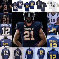2021 Navy Midshipmen Football Jersey NCAA College Jacob Springer Roger Staubach Keenan Reynolds Malcolm Perry Nelson Smith CJ Williams Tazh Maloy