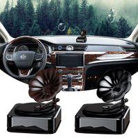 Car Air Freshener Solar Energy Retro Record Machine Essential Oil And Fragrance Diffusers Auto Interior Accessories