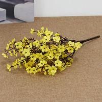Silk Gypsophila Fiori artificiali per la decorazione domestica Plastica Stelo Sposa Sposa Bouquet da sposa Mariage Cherry Blossom Flower Flower 2147 V2