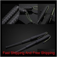 Others Accessories Gear Recovers 26Cm Elongation 63Cm Outdoor Survival Gadget Trekking Pole Tactical Pen Emergency Window Breaking Tel