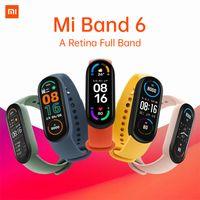 Xiaomi Mi Band 6 Akıllı Bilezik 4 Renk Dokunmatik Ekran MIBAND 5 Bileklik Fitness Kan Oksijen Parça Kalp Hızı Monitorsmartband Youpin