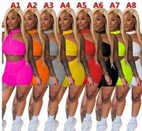 2021 Summer Femmes Tracksuits Sexy Court Piece Pantalons Ensemble de tenues Lady Jogger Costumes Streamers Tops Suit Plus Vêtements de taille
