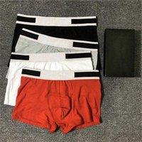 Hommes designers boxeurs marques sous-vêtements sexy classique homme boxeur shorts décontractés sous-vêtements doux respirant coton sous-vêtements 3pcs avec boîte