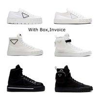 Luksusowe kobiety Designer Shoes Lnspired przez koła motocyklowe Nylon Gabardyna sneaker Guma Gumowa podeszwa damy Ariangular Sneakers Box