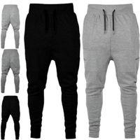 Mens Athletic Taille Élastique Couleur Solide Couleur Pantlones Designer Fermeture éclair Décoratif Pantalon Joggers Vêtements de survêtement pour hommes Pantalon de piste