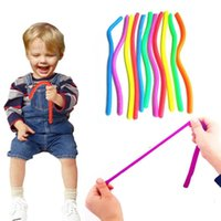 2021 Hand Hyperflexion Stretchy Antistress Jokes Noodles Rope Toy Anti Stress String Fidget Autism Vent Toys
