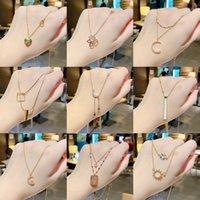 Anhänger Necklac Koreaner Licht Luxus Stahl Halskette Damen Niche DIGN Geometrische Anhänger Persönlichkeit Cool Stil Accsori