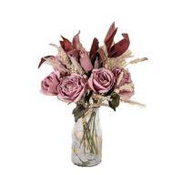 Decorative Flowers & Wreaths Rose Artificial Flower Silk Dried Decoration Wedding Home Decor Beautiful Fashion Luxury El Bedroom Vase Decora