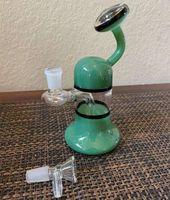 7.6 pulgadas 19 cm OVNI Color Surtido Verde Pedcolator Glass Water Bong Pipe Beaker Hookah Bongs Us Envío