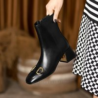 2022 autumn Cowhide zipper boots, fashion luxury designer ankle bootss, good quality 5cm high heels 35 to 40 with box