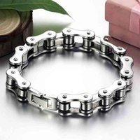 Jewelry Biker Bicycle Motorcycle Chain Punk Titanium Steel Bangle Men Trendy Bracelet