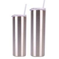 30 oz Edelstahl Gerade Kaffeetasse Skinny Leere Tumbler Vacuum Falsk Wine Cup