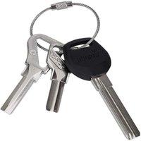 Accrocher la chaîne de la chaîne Tag Vis à bagages Corde de portefeuille Cercle Cercle Bushcraft Kit Lock Gadget Bague Porte-clés Câble Toux-porte-clés en acier