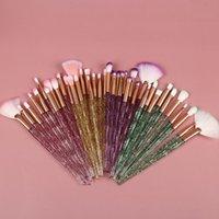 Makeup Brushes 10Pcs Set Crystal Set Eye Cosmetic Powder Foundation Shadow Cosmetics Professional Make Up Brush