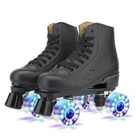 2021 Outdoor Fashion Herren Frauen Roller Skates Vier Runden mit Verzögerung Kausal Eislaufschuhe Patins Sport EUR 36-45