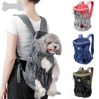 Pet backpack, breathable mesh, dog chest Carrier, zipper, convenient dogs bag, cat bags
