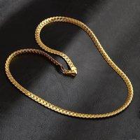 5mm Mode Luxus Herren Womens Schmuck 18 Karat vergoldet Kette Halskette Hip Hop Miami Ketten Designer Halsketten Geschenke Zubehör 430 Q2