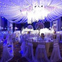 Chaise couvre 100 pcs robe de mariée romantique bouchon organza couvre-dentelle ruffled