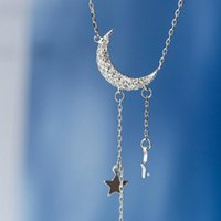 Pendant Necklaces Korean Planet Daisy Butterfly Necklace Women Heart Moon Star Horse Charm Silver Color Neck Chain Choker Wedding Jewelry