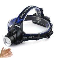 CREE T6 onda de indução de onda com 18650 bateria inteligente detentor ao ar livre caminhadas de acampamento lâmpada lâmpada lanterna USB rechagable Motion Sensor Faróis