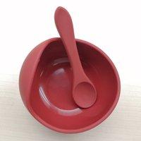 Силикагель Baby Baby Bow в присоске Чаша ест детей Дополнительные посуды для еды ложка набор TFZ0