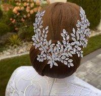 Vintage Wedding Bridal Rhinestone Headband Crystal Crown Tiara Princess Queen Crowns Tiaras Luxury Silver Bling Prom Women Hair Accessories Jewelry Headpiece