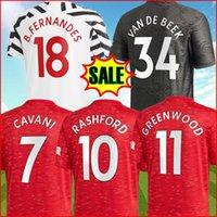 판매에 태국 2020 2021 Bruno Fernandes 축구 유니폼 Cavani Pogba Rashford 20 21 Top Football Shirt