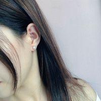 2021 925 Saf Gümüş Saplama Taze Su Inci Küçük Basit Retro Moda Küpe Aesthetik Kadınlar için Kore Tarzı Aksesuarları Brincos Parti Takı Hediye