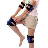 Cotovelo joelho almofadas 1 par criança macio engrenagem de engrenagem de bicicleta rolo de dança patinando guarda de suporte para crianças adultas