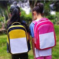 DIY Thermal Transfer Backpack Kids Sublimation Blank Shoulders Bags Colorful Christmas Students Junior's School Bag Totes Gifts JJA148