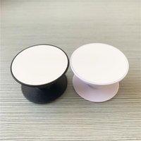 Soporte de teléfono celular en blanco de sublimación Soporte de plástico con inserción de metal Trasnfer Trasnfer Impresión Soporte de agarre