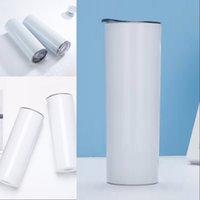 20oz sublimação Tumblers em linha reta copo lnsulado Sublimações em linha de aço inoxidável garrafa de água lnsulada