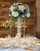 70cm Tall Crystal Wedding decoration Centerpiece Acrylic Flower Stand Centre Table Event Marriage Decoration chandelier 10PCS LOT