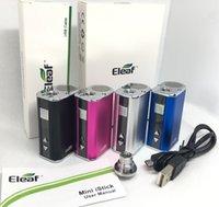 Eleaf Istick Mini 10 W Pil Marş Kimleri USB Kablosu Ile 1050 mAh Değişken Voltaj Vape Mod Ego Bağlayıcı Adaptörü 510 Konu Buharlaştırıcı Kalem Toptan Ücretsiz UPS