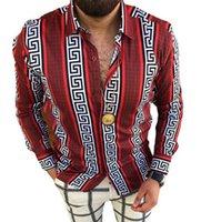 بالإضافة إلى الأحجام 3xl الرجال عارضة خمر القمصان سترة المطبوعة طويلة الأكمام ضئيلة الصيف هاواي قميص نحيل تناسب مختلف نمط رجل الملابس بالأزرار بلوزة