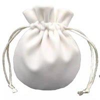 Takı Kadife Torbalar Çanta Pandora Charms Boncuk Gümüş Bilezik Bayan Kolye Kolye Ambalaj Hediye Çanta DHF6314