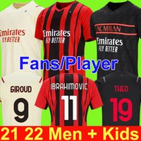 Milan 20 21 Balr Signature Soccer Jersey Ibrahimovic Paqueta Bennacer Tonali Romagnoli 2020 Футбольная футболка Calhanoglu Rebic Men Kids Kit