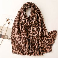 2021 Polyester fashion joker Leopard grain Scarf High Quality Beach towels National Wind Long Scarves For Women Wrap Shawl Stole 81
