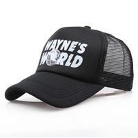 Luxury Brand Hats&Caps Wholesale Black Waynes World Baseball Caps Unisex Hip Hop Sunhat Wayne's Costume Embroidered Mesh