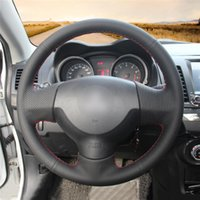 Steering Wheel Covers DIY Anti-Slip Wear-Resistant Cover For Mitsubishi Lancer 10th Outlander ASX Colt Car Interior Decoration
