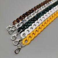 120 cm DIY Moda colorido de la cadena acrílica de acrílico de la cadena de acrílico de los pescados de la correa de plástico de la correa de los hombros de los accesorios para las mujeres