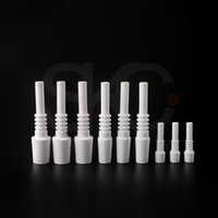 High quality Smoke 10mm 14mm 18mm Mini Ceramic Nail Tip Nectar Collector Kits For Glass Bong Pipe Dab Rig