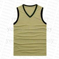 뉴저지 농구 폴리 에스터 V-Neck 민소매 회색 그라디언트 아이보리 육군 녹색 레드 멀티 골드 브라운 44 실버 Xishi
